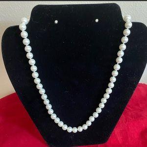 "White Akoya Shell Pearl 18"" Strand Goldtone Clasp"